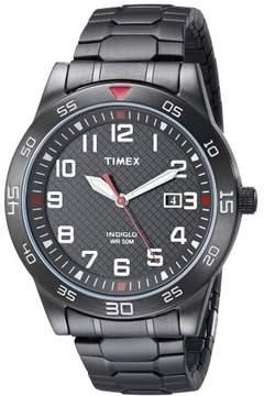 Timex TW2P61600 Main Street Men's Watch Black Ion-Plated Steel 42mm