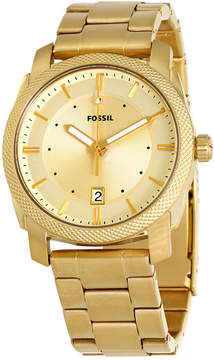 Fossil Machine Gold Dial Yellow Gold-tone Men's Watch