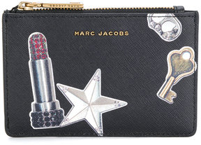 Marc Jacobs printed cardholder - BLACK - STYLE
