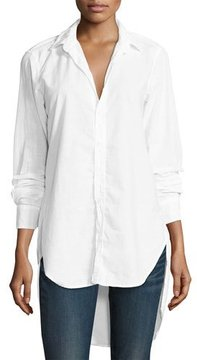 Frank And Eileen Grayson High-Low Button-Down Shirt, White