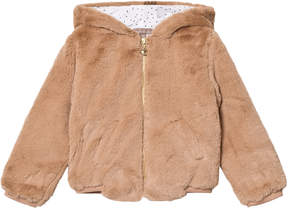 Emile et Ida Brown Faux Fur Jacket With Ears