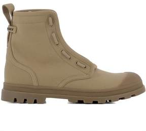 Burberry Men's Beige Fabric Ankle Boots.