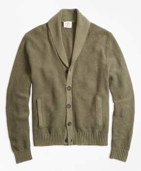 Brooks Brothers Seed-Stitch Shawl-Collar Cardigan