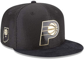 New Era Indiana Pacers On-Court Black Gold Collection 9FIFTY Snapback Cap