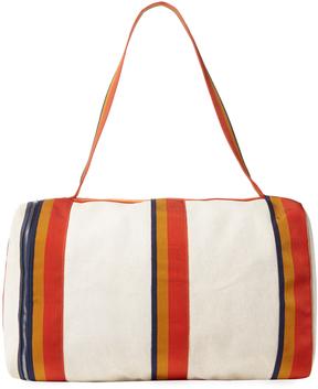 Hermes Vintage Beige Canvas Cavalier Bag