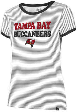 '47 Women's Tampa Bay Buccaneers Striped Ringer T-Shirt