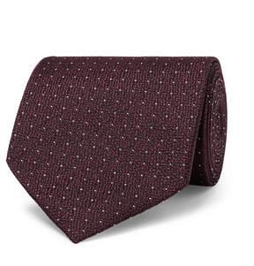 Ermenegildo Zegna 8cm Pin-Dot Silk-Jacquard Tie