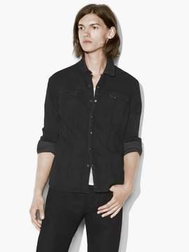 John Varvatos Knit Denim Shirt Jacket