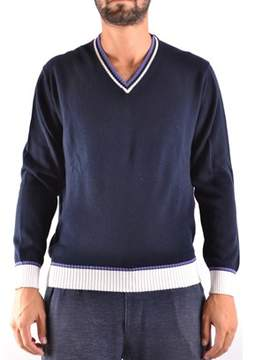 Ballantyne Men's Blue Cotton Sweater.