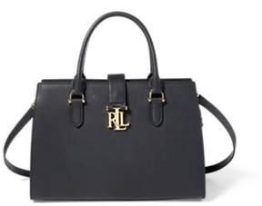 Ralph Lauren Leather Brigitte Ii Satchel Black One Size