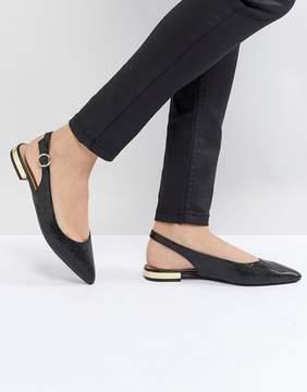 Head Over Heels by Dune Patent Slip on Sling Back Shoe