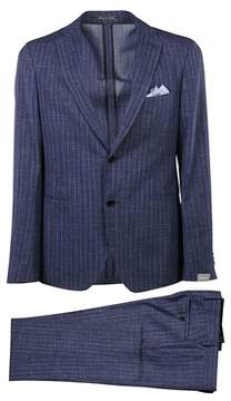 Cantarelli Men's 215332582491307 Blue Wool Suit.
