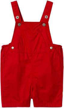 Petit Bateau Red Baby Dungarees