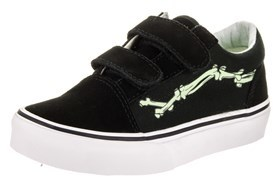 Vans Kids Old Skool V (glow Bones) Skate Shoe.