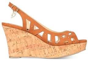 Thalia Sodi Womens Ebbie Fabric Open Toe Casual Platform Sandals.