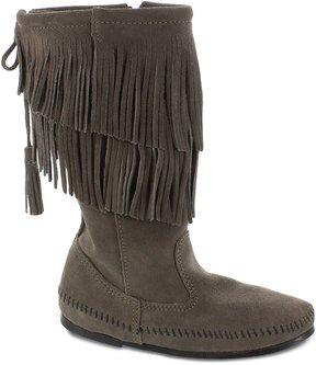 Minnetonka Calf Hi 2-Layer Fringe Boots