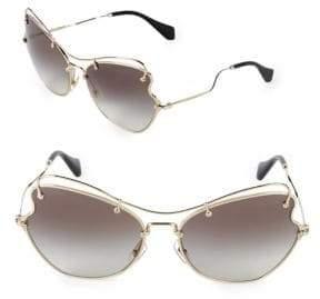 Miu Miu 65MM Futuristic Sunglasses
