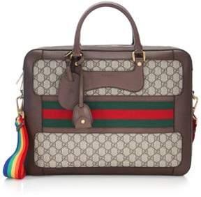 Gucci Rainbow Strap GG Briefcase