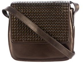 Stuart Weitzman Metallic Leather Crossbody Bag
