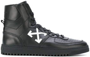 Off-White arrows patch hi-top sneakers