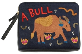 Lizzie Fortunato Bull Icon Safari Clutch