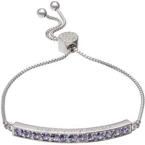 Brilliance+ Brilliance Silver Plated Enjoy The Journey Bolo Bracelet with Swarovski Crystals