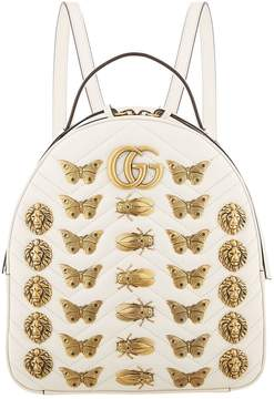 Gucci Marmont Bug Chevron Backpack - WHITE - STYLE