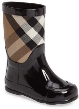 Burberry 'Ranmoor' Waterproof Rain Boot