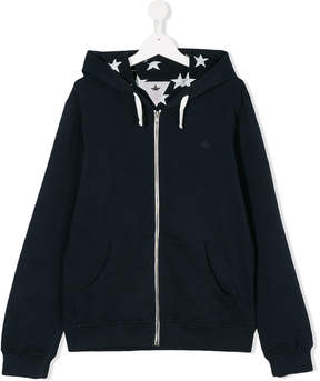 Macchia J Kids TEEN star lined hoodie