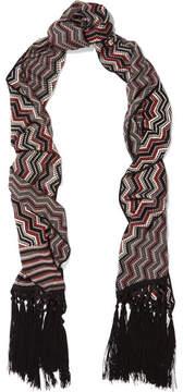 Missoni Fringed Wool-blend Scarf - Black