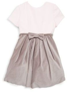 Helena Little Girl's & Girl's Bow Satin and Velvet Dress