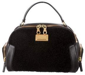 Marc by Marc Jacobs Shearling-Trimmed Merit Satchel