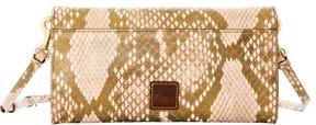 Dooney & Bourke City Python Crossbody Clutch Shoulder Bag - GOLD - STYLE