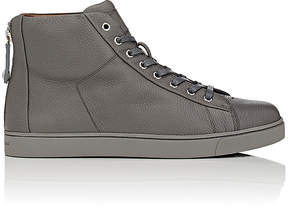 Gianvito Rossi Men's Back-Zip Leather High-Top Sneakers