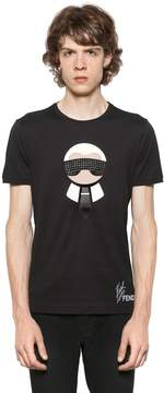 Karl Studded & Patches Jersey T-Shirt