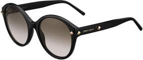 Jimmy Choo More Studded Cat-Eye Sunglasses, Black