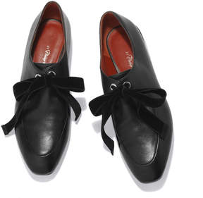 3.1 Phillip Lim Square-Toe Lace-Up Loafer in Black, Size IT 36