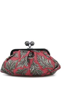 Max Mara Red And Gold Jacquard Pasticcino Mini Bag