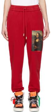 Off-White Red Monalisa Lounge Pants