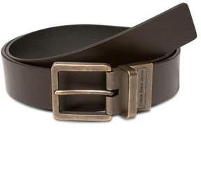 Calvin Klein Mens Brass Belt Brown 30