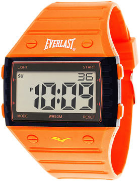 Everlast Orange Silicone Strap Digital Sport Watch