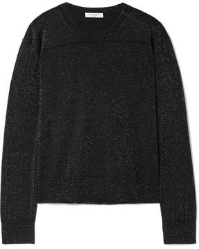 Equipment Irene Metallic Wool-blend Sweater - Black