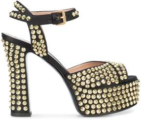 Moschino studded platform sandals