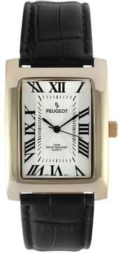 Peugeot Men's Leather Watch