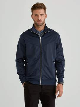 Frank and Oak Full Zip Track Jacket in Dress Blue