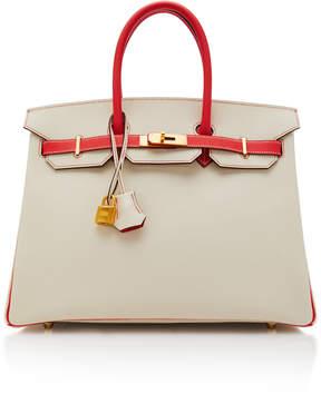 Hermes Vintage by Heritage Auctions 35cm Craie and Rose Jaipur Epsom Leather Special Order Horseshoe Birkin