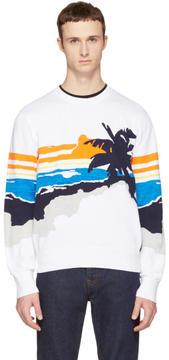 Rag & Bone White Brody Graphic Sweater