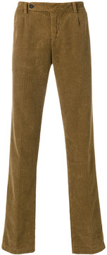 Massimo Alba ribbed straight trousers