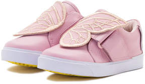 Sophia Webster Bibi Embroidered-Butterfly Low-Top Sneaker, Pink