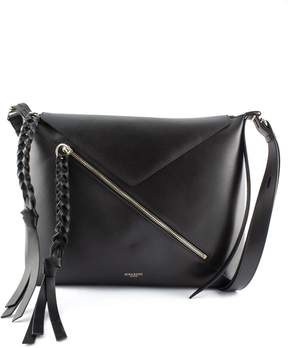 Nina Ricci Shoulder Bag In Black Leather With Fringe.